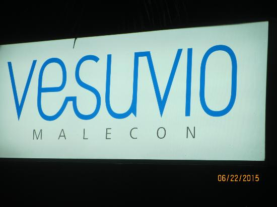 Vesuvio Malecon: Resteraunt sign