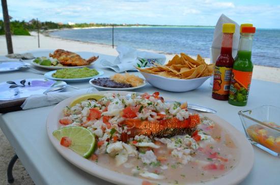 Chamicos Tulum: lobster ceviche