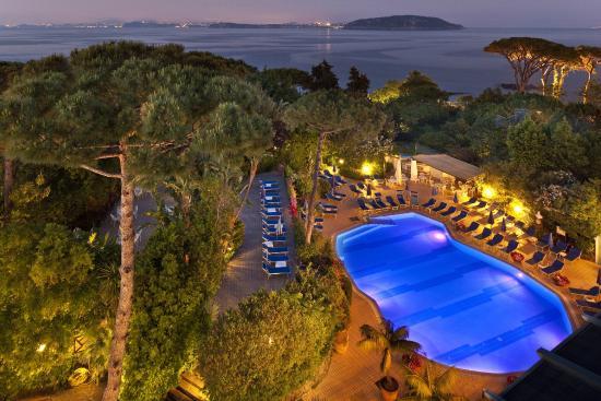 Grand Hotel Excelsior: Vista sul parco e sulla piscina esterna