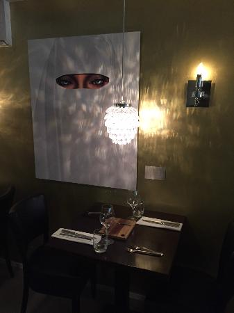 Love the interior with the great art on the wall - Picture of ...