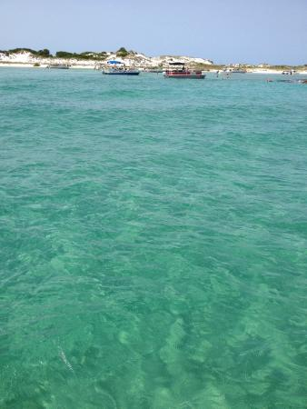 Florida's Emerald Coast and the tip of Shell Island
