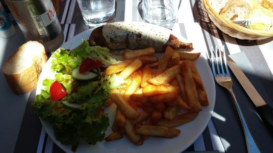 Andouillette et saumon en papillote picture of les caprices d 39 anais carnac tripadvisor - Saumon en papillote ...