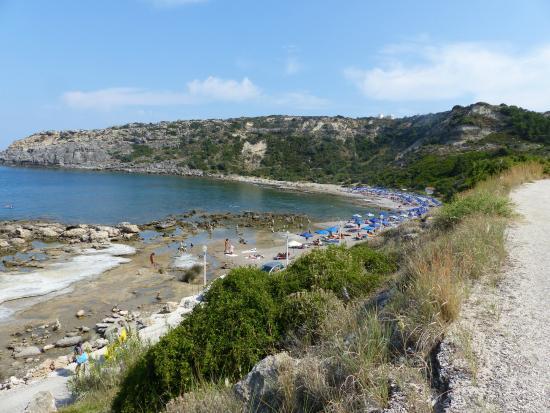 Lido beach in Faliraki