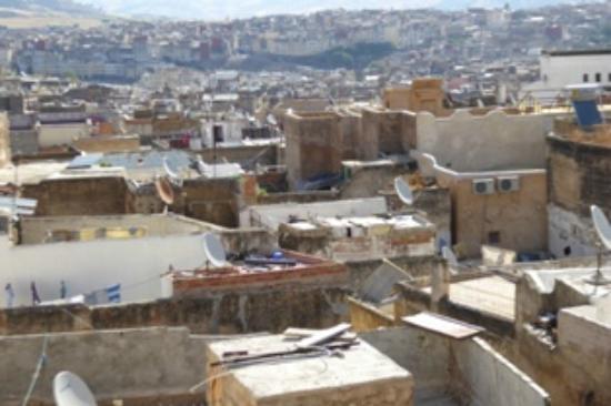 Dar El Hana: View of Medina from roof of Dar El Hana