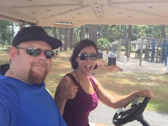 Daufuskie Island, Hilton Head, Sc : Ferry ride over and my first go a driving a golf cart!