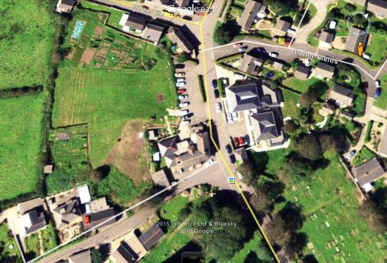 Queens Arms: Aerial view