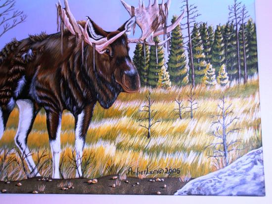 Mangy Moose Motel: artwork in second room