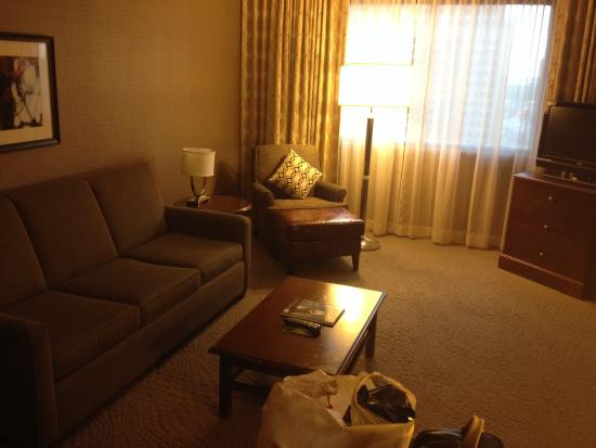 Sheraton Suites Wilmington Downtown Hotel: Living room area