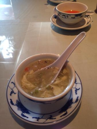 Orange chicken, beef and broccoli and egg flower soup. - Picture ...