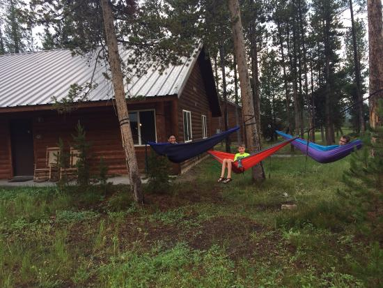 Kid friendly but quiet picture of headwaters lodge for Headwaters cabins gran teton recensioni