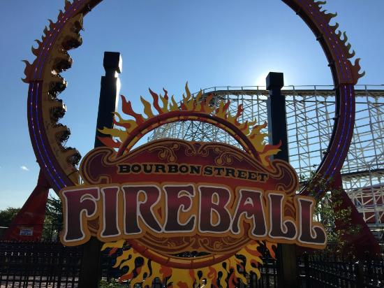 Bowie, MD: Bourbon Street Fireball - 7 story looping coaster
