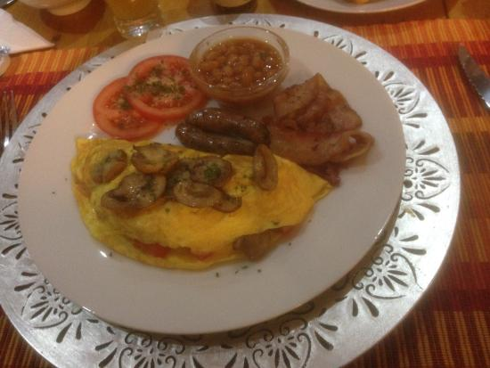 Caledon 23 Country House: Breakfast was superb and this was the main course which I had chosen