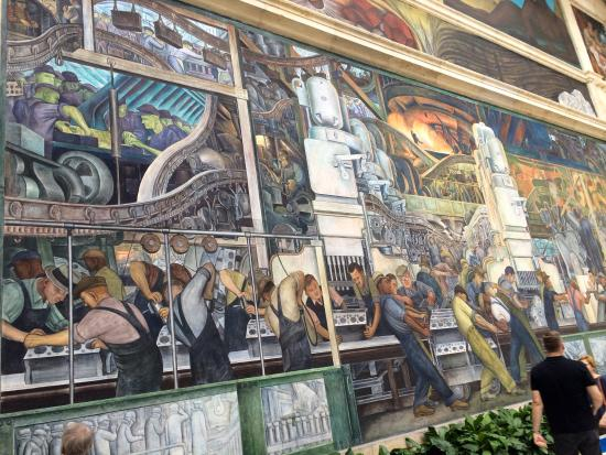 The detroit institute of arts rivera court detroit for Detroit industry mural
