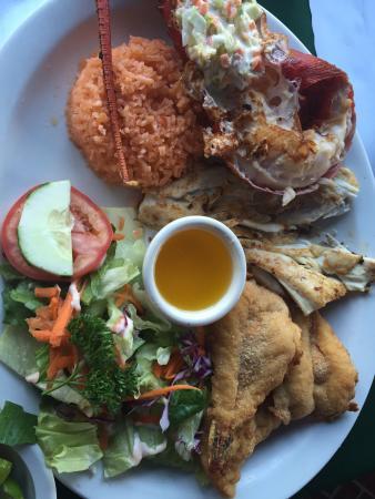 Mariscos Bahia de Ensenada: Seafood combo