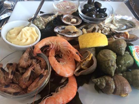 Grain d'Sel : Assiette de fruits de mer en entrée (menu à 21€ et 26€)