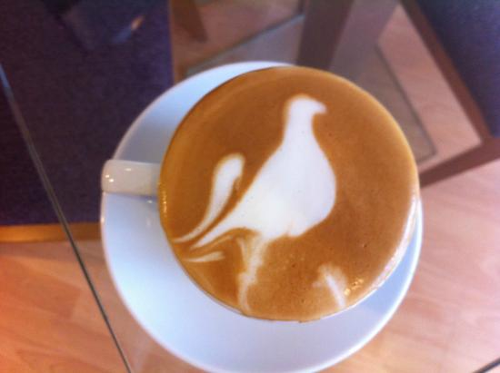 The Organic Coffee House: Beautiful Latte art from our head barrista