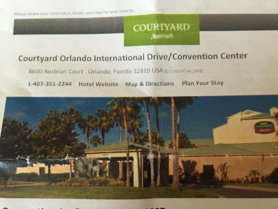 Courtyard Orlando International Drive/Convention Center - Picture of ...