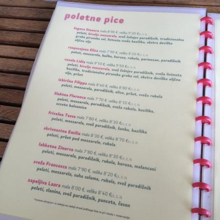 summer pizzas with funny names picture of picestavracija