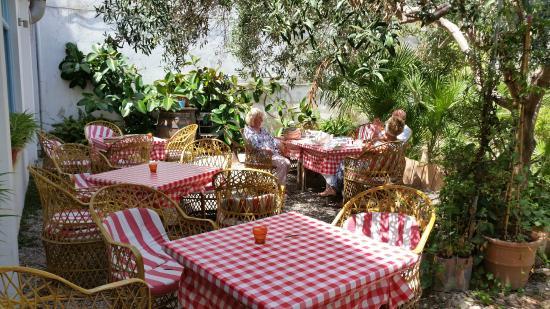 Hostal Paris: Garden