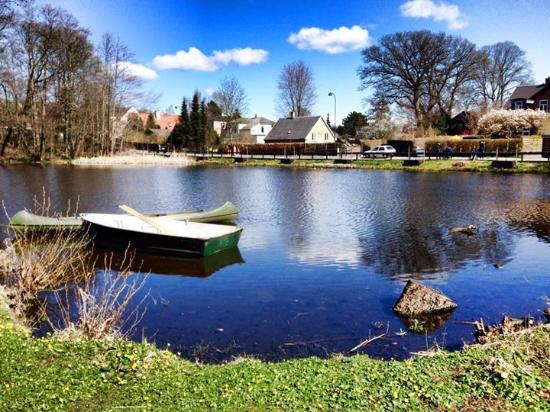 Schaeffergarden: Small lake behind the hotel