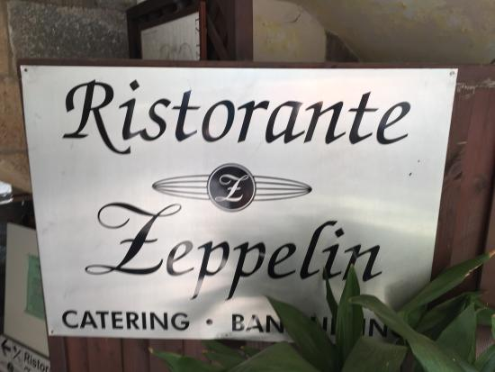 Zeppelin Ristorante: Had lunch on our last day!