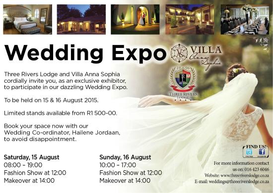 Three Rivers Lodge & Villa Anna Sophia: Wedding Expo