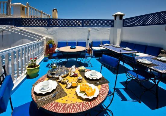 Riad Dar Nafoura : Petit déjeunera terrasse à l