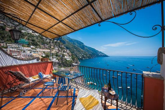 Hotel Miramare: corner view terrace