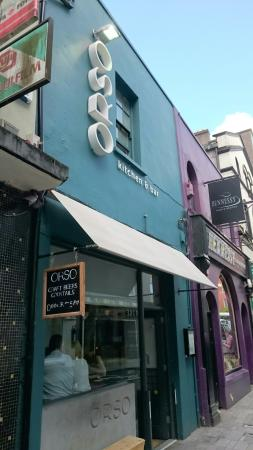 orso exterior july 2015 - Cork Restaurant 2015