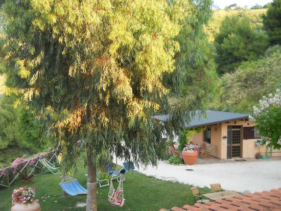 Bed&Breakfast Silent Valley: il giardino con vista sulla dependance