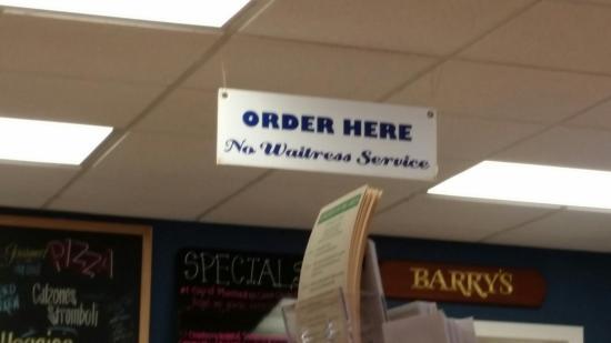 Barry's Do-Me-A-Flavor: NO WAITRESS SERVICE!