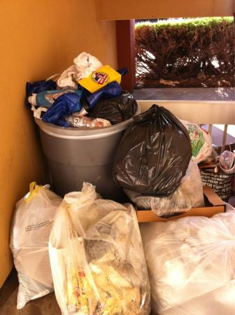 Extended Stay America - Denver - Tech Center - North: Trash always overflowing