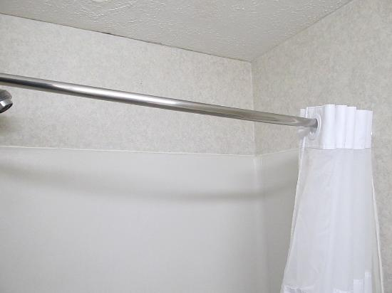 Quality Inn: Didn't want to touch the shower rod wasn't sure if it was going to fall down