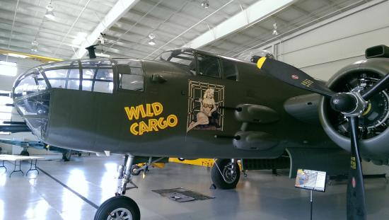 Military Aviation Museum B25 Er Re Purposed As A Cargo Plane