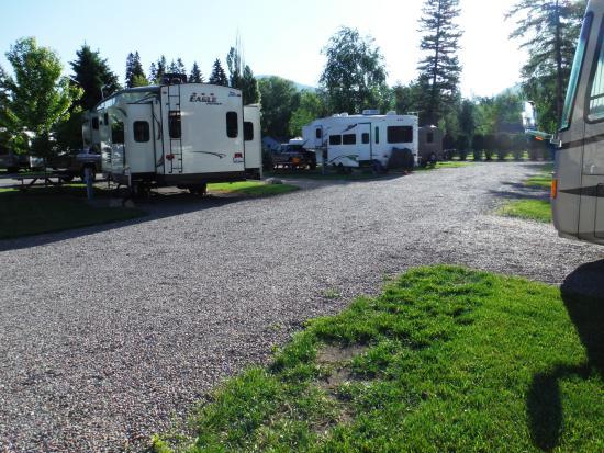 Columbia Falls RV Park: RV Sites toward exit