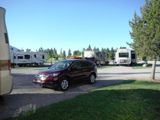 Columbia Falls RV Park: RV Sites toward the highway