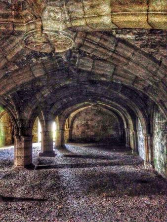 South Wingfield, UK: The cloisters / under chamber, allegedly haunted!