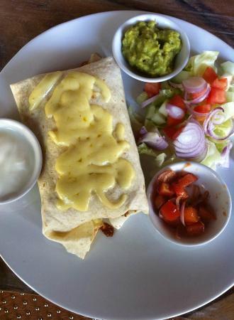 Taco Corner : Tasty chicken burrito