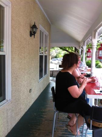 The Pie Plate The porch & Today\u0027s menu - Picture of The Pie Plate Niagara-on-the-Lake ...