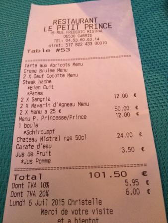 Le Petit Prince : Excellent repas !