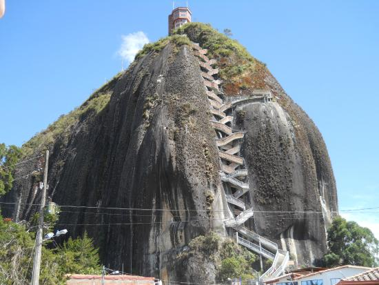 Guatapé, Colombia: The rock and its stairs.
