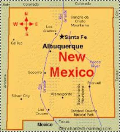 NM Map Picture Of Howard Johnson Albuquerque Midtown - Albuquerque map
