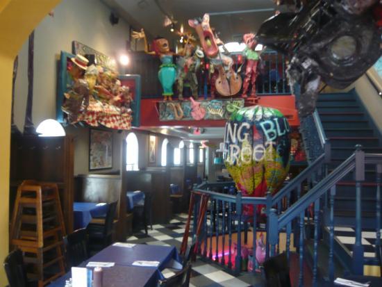 King Street Blues: Upstairs dining area