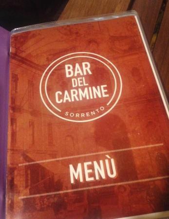 Bar del Carmine : Cocktail list