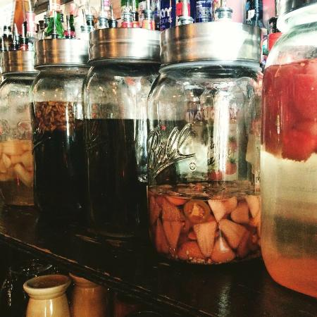 5 of Caroline's Fresh Liquor Infusions resting to perfection!