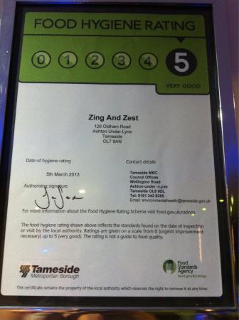 Zing & Zest Indian Food & Bar: Zing & Zest Indian Restaurant.