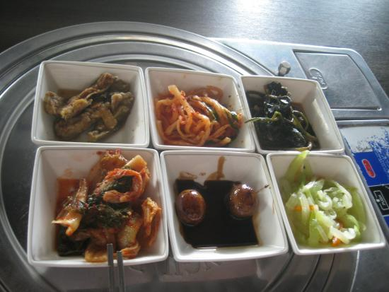 Manna Korean Restaurant: some of the side dishes served with bim bim bap
