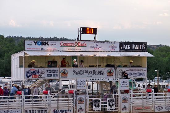 Food Vendors In Background Prescott Rodeo Picture Of