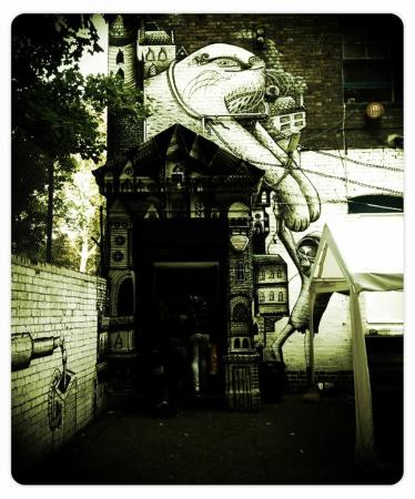 Our Entrance. Graffiti by Phlegm and Roa