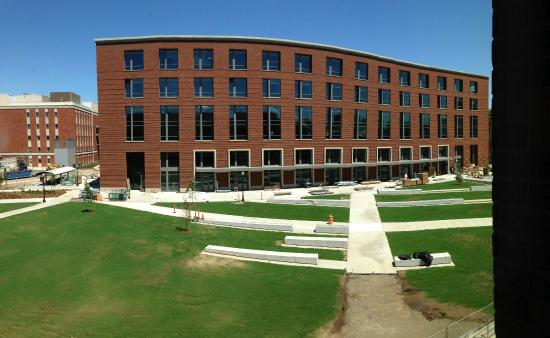 Oregon State University: Nearing completion of a new 4-story Classroom Building from the (also new) Austin Hall